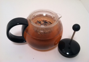 My brand new tea steeper- thanks Mom and Dad!